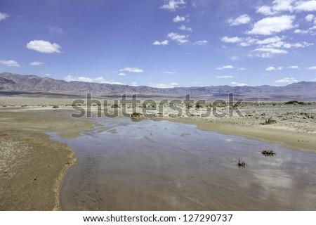 Desert River - stock photo