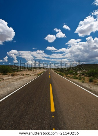 Desert road - Baja California - Mexico - stock photo