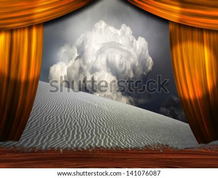 Desert Sands creep into theater scene - stock photo
