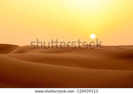 Desert sunset - stock photo