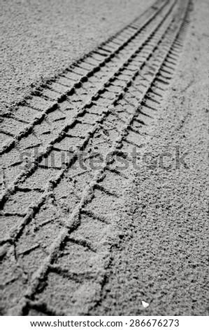 Desert Traces - stock photo