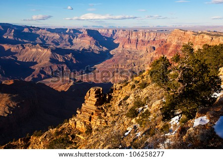 Desert View Grand Canyon National Park South Rim Arizona - stock photo