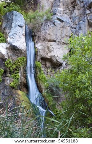 Desert Waterfall in Darwin Falls, Death Valley California - stock photo