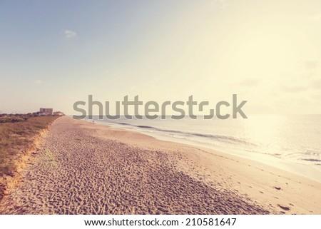 Deserted beach - stock photo