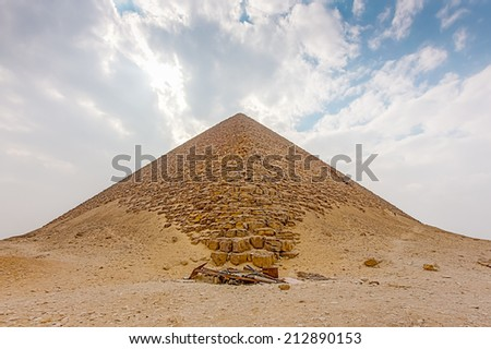 Deserted pyramid at Dashur, south of Cairo, Egypt. - stock photo