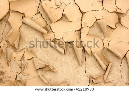 Desertification texture, Bardenas Reales, Spain. - stock photo