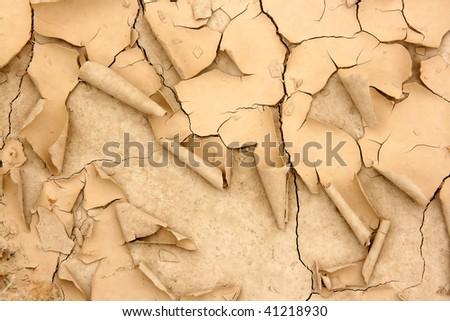 Desertification texture, Bardenas Reales, Spain. - stock photo