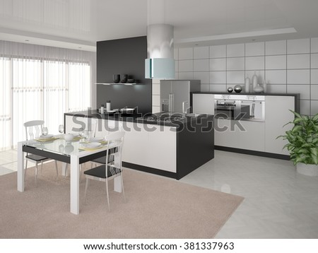 Design a perfect light cuisine, 3d rendering. - stock photo