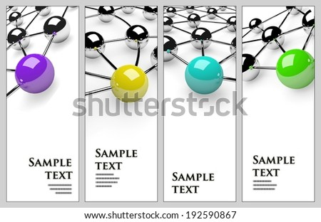 Design cards with balls metaphor - stock photo