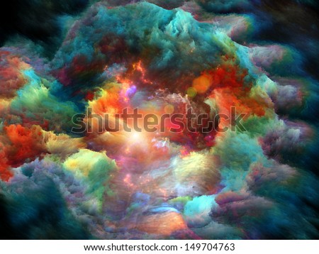 Design composed of dreamy forms and colors as a metaphor on the subject of dream, imagination, fantasy and abstract art - stock photo