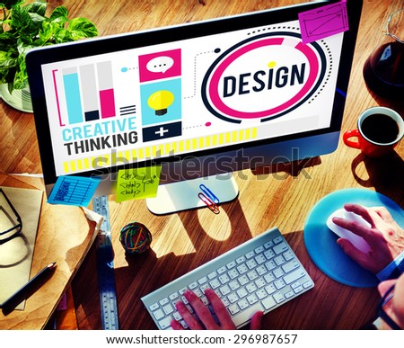 Design Creativity Thinking Ideas Designer Concept - stock photo