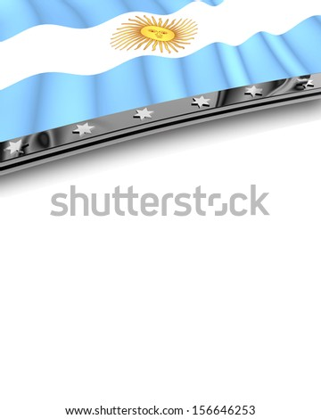 Design Element Flag of Argentina - stock photo