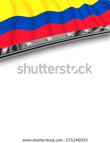 Design Element Flag of Colombia - stock photo