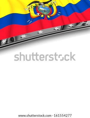 Design Element Flag of Ecuador - stock photo