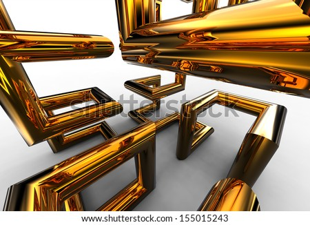 Design Element of cube - stock photo