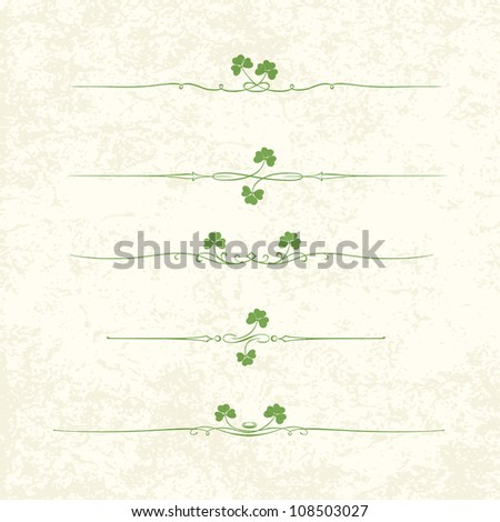 Design Elements For St. Patrick's Day. Raster version. - stock photo