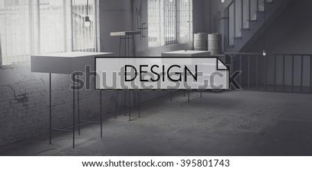 Design Interior Studio Workspace Concept - stock photo