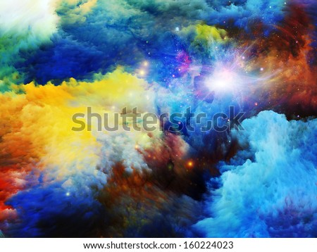 Design made of dreamy forms and colors to serve as backdrop for projects related to dream, imagination, fantasy and abstract art - stock photo