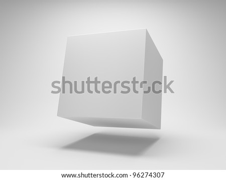 Design of abstract cube - stock photo