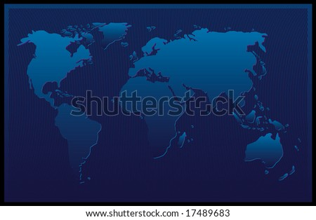 Design of an abstract blue map - stock photo