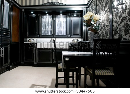 Design of classical modern kitchen - stock photo