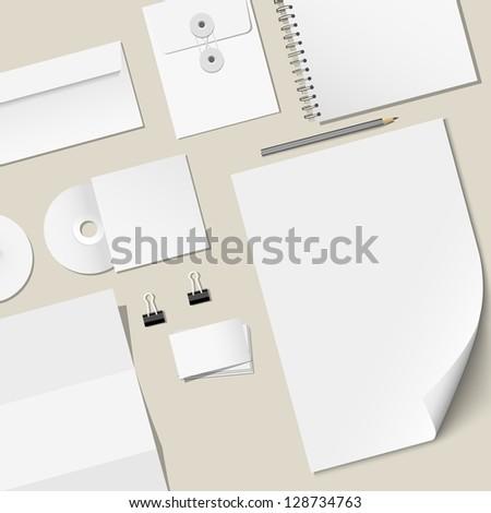 Design of corporate templates. Raster version - stock photo
