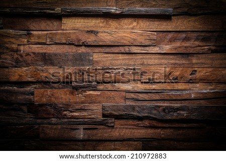 design of dark wood texture background - stock photo