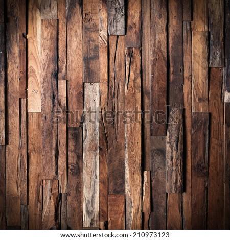 design of dark wood texture background - stock photo