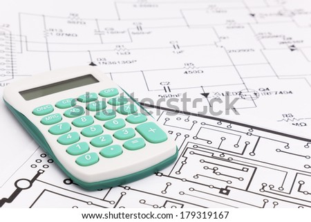Design of electronic project - stock photo