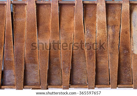 Design of rusty metal plates. Backgrounds and textures - stock photo