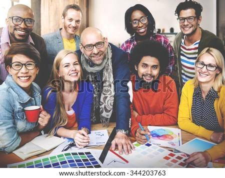 Design Studio Creativity Ideas Teamwork Technology Concept - stock photo