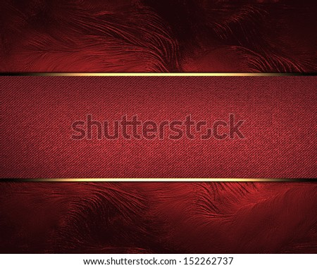 Design template. Red background with red ribbon and old vintage grunge background - stock photo