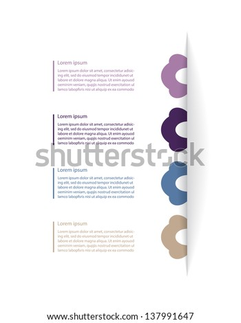 design template with special modern elements - stock photo