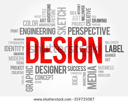 DESIGN word cloud concept - stock photo