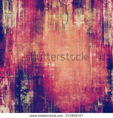 Designed background in grunge style. With different color patterns: yellow (beige); brown; red (orange); purple (violet); pink - stock photo