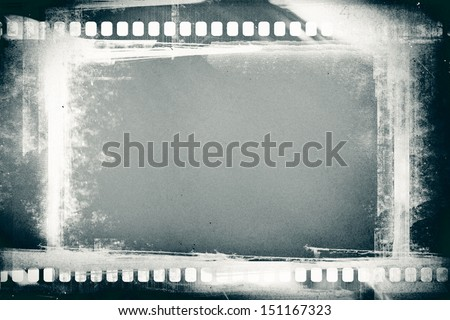 designed grunge filmstrip for background - stock photo