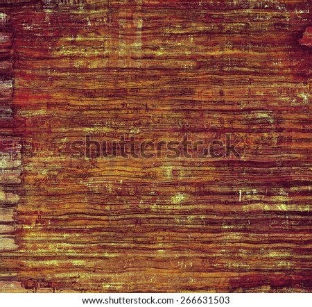 Designed grunge texture or background. With different color patterns: yellow (beige); brown - stock photo