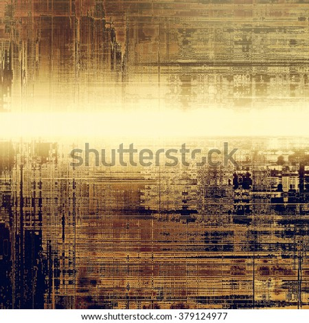 Designed grunge texture or background. With different color patterns: yellow (beige); brown; gray; black - stock photo