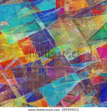 Designed grunge texture or retro background. With different color patterns: yellow (beige); brown; blue; pink; red (orange) - stock photo