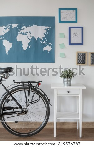 Designed place for teenager in the house  - stock photo