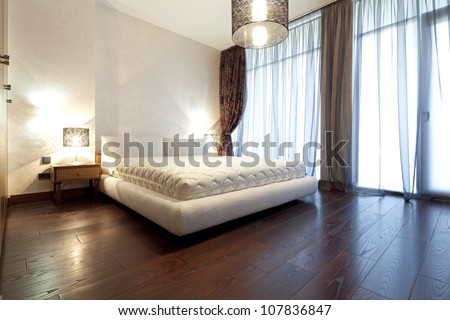 Designer bedroom - stock photo