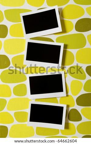 Designer concept - blank photo frames for your photos - stock photo