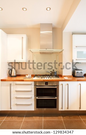 Designer kitchen - stock photo
