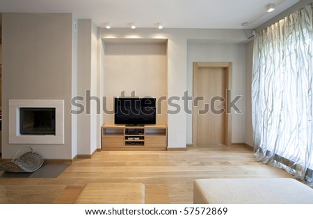 Designer living room - stock photo