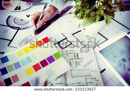 Designer Working on a New Project - stock photo