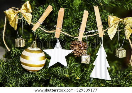 Designing and making your own christmas decorative items and ornaments are a joy to behold and shared with family members / Christmas background / Worldwide celebrations on this auspicious day - stock photo