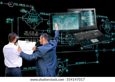 Designing engineering technology.Working Engineer - stock photo