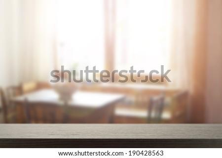 desk and window  - stock photo