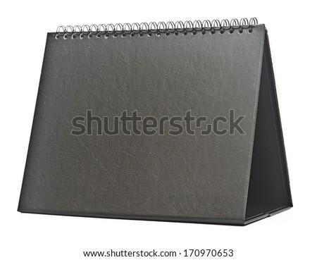 Desk Calendar isolated on white - stock photo