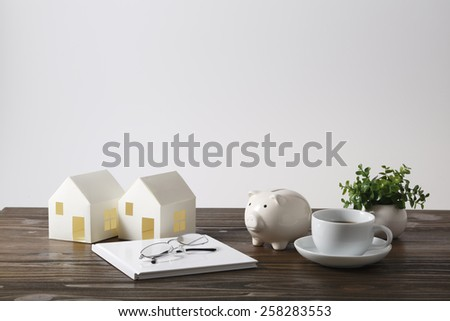 Desk image - stock photo